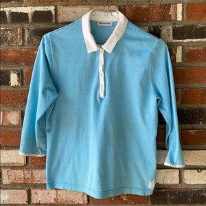 Aquascutum London Woman's Blue Shirt Size Large 👕